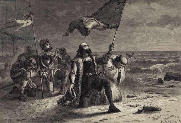 The Landing of Columbus (engraving)