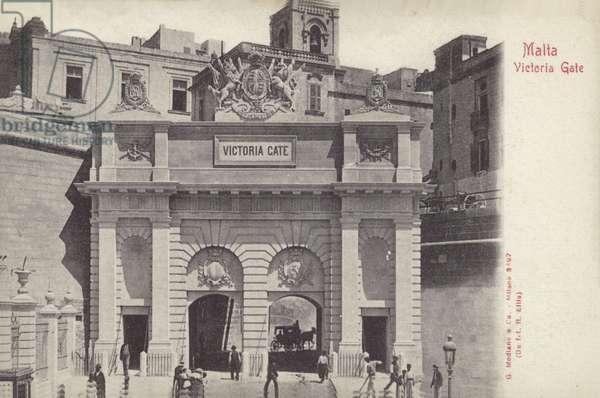 Victoria Gate, Valletta, Malta (b/w photo)