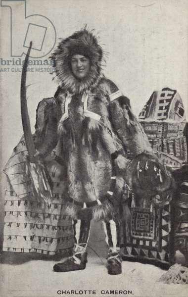 Charlotte Cameron, British explorer (b/w photo)