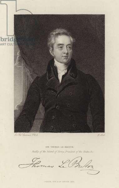 Sir Thomas Le Breton (engraving)