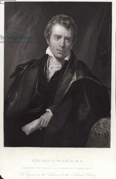 Sir David Wilkie, Scottish painter. Engraving by Francis Holl (engraving)
