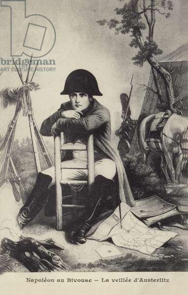 Napoleon au Bivouac (litho)