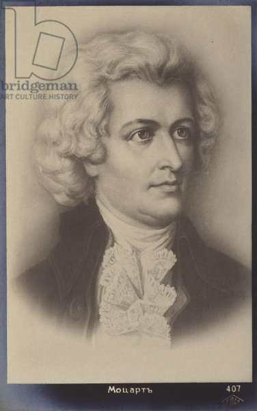 Wolfgang Amadeus Mozart (1756-1791), Austrian composer (litho)