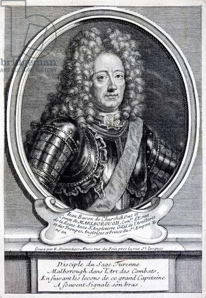 John Churchill, 1st Duke of Marlborough, English soldier (engraving)