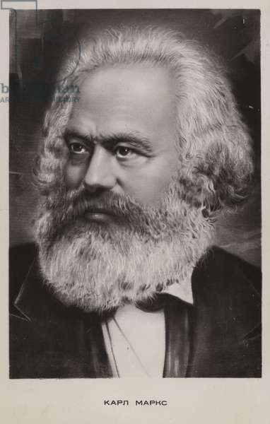 Karl Marx, German philosopher, economist and political theorist (litho)