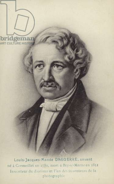 Louis Daguerre (1787-1851), French photographic pioneer (litho)