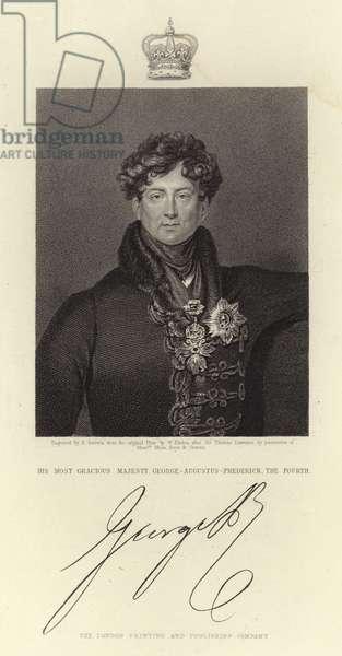 Portrait of King George IV (engraving)