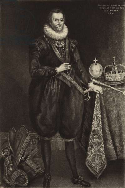 King James I (litho)