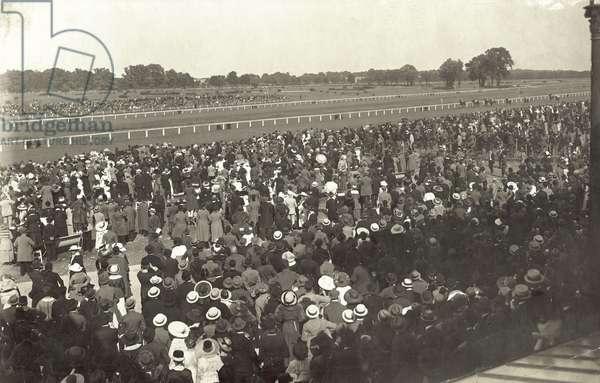 The Austrian Derby, Vienna, 1918 (b/w photo)