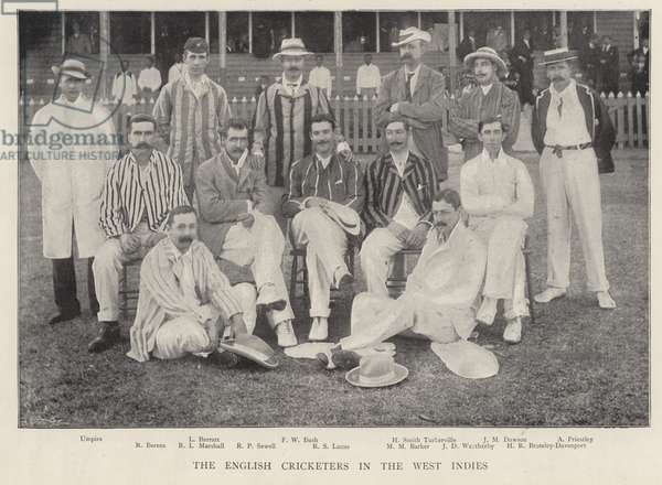 The English Cricketers in the West Indies, 1895. (b/w photo)