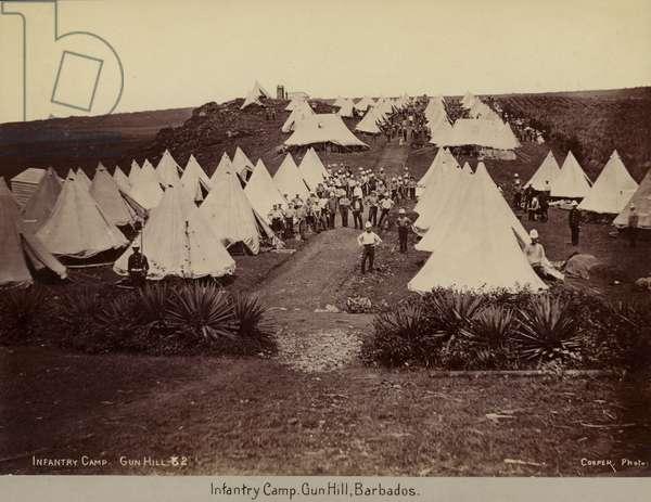 Infantry Camp, Gun Hill, Barbados (b/w photo)
