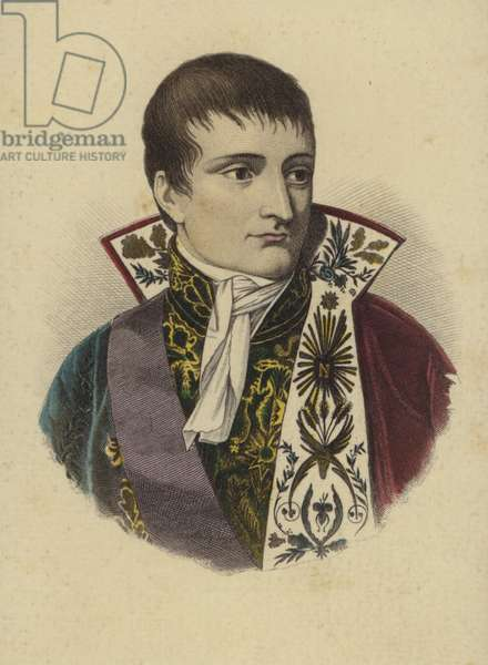 Napoleon Bonaparte (coloured engraving)