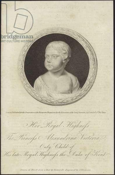 Bust of Princess Alexandrina Victoria (engraving)