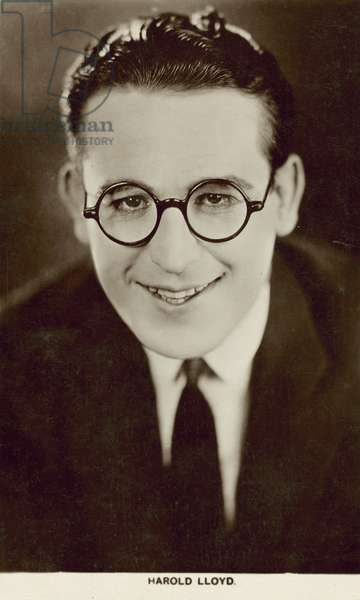 Harold Lloyd, American actor and comedian (b/w photo)