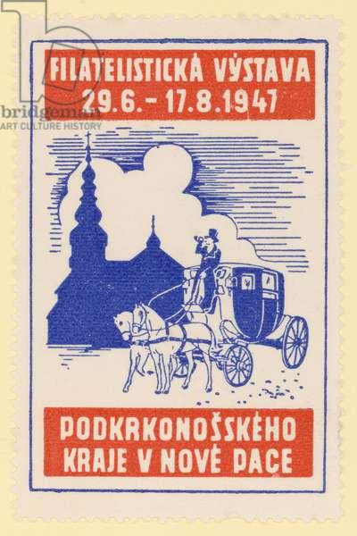 Philatelic exhibition, Czechosolvakia, 1947 (colour litho)