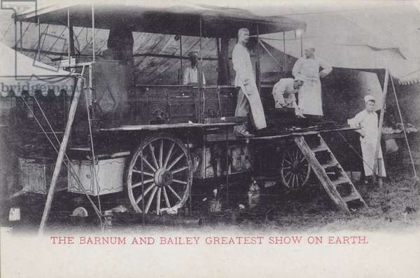 Catering wagon of Barnum and Bailey's Circus (b/w photo)