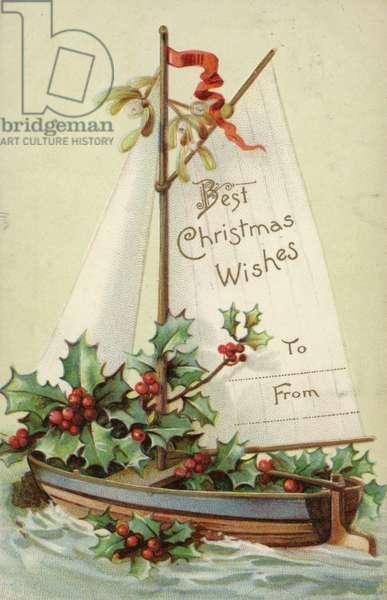 Christmas gift label (colour litho)