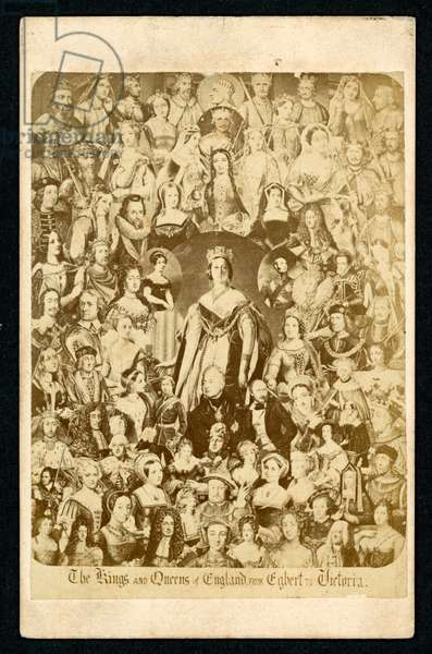 The Kings and Queens of England from Egbert to Victoria (litho)