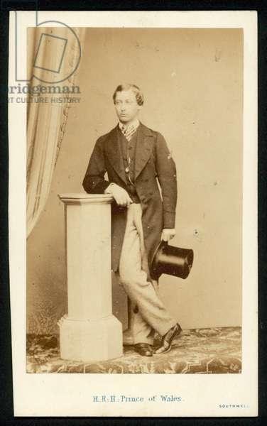 Albert Edward, Prince of Wales (b/w photo)