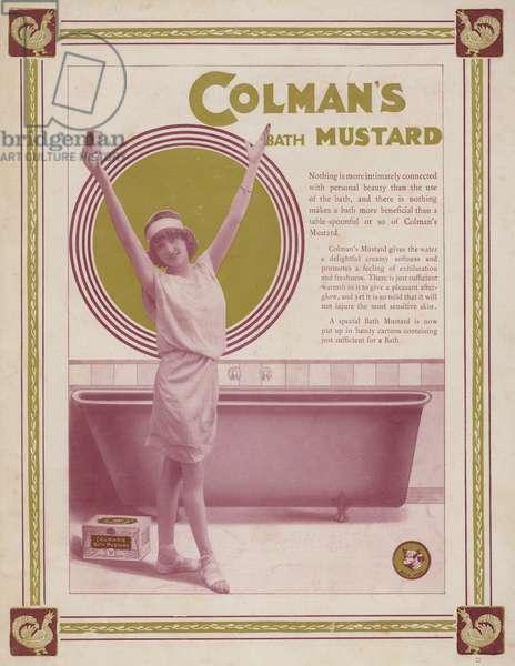 Advertisement for Colman's bath mustard (colour litho)