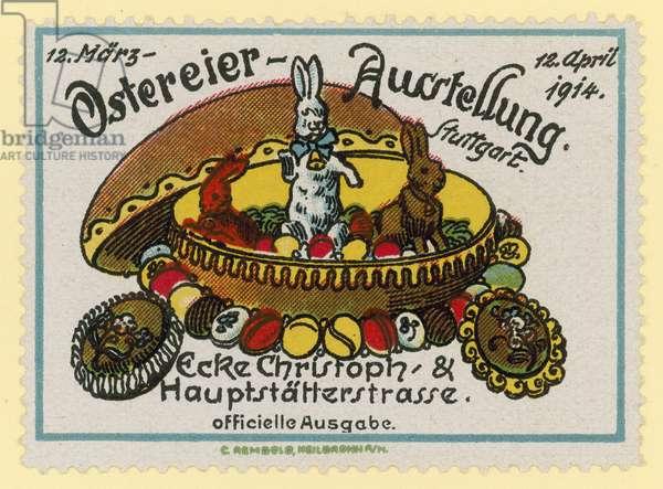 Easter egg exhibition, 1914 (colour litho)