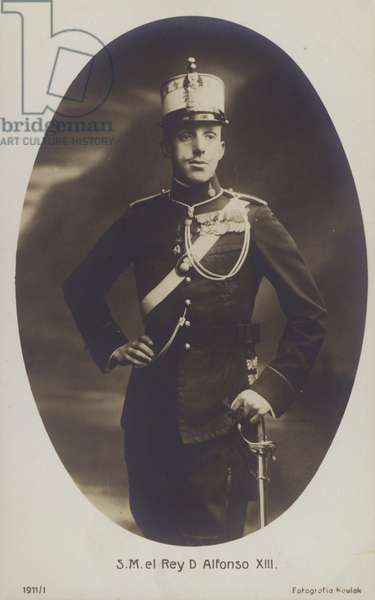King Alfonso XIII Of Spain (b/w photo)