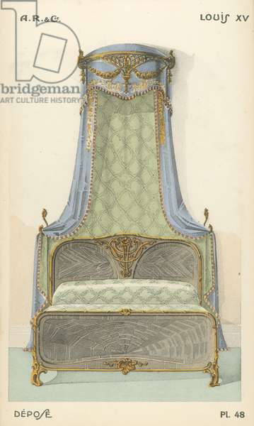 Illustration from interior design product catalogue from A R & Cie, France (colour litho)