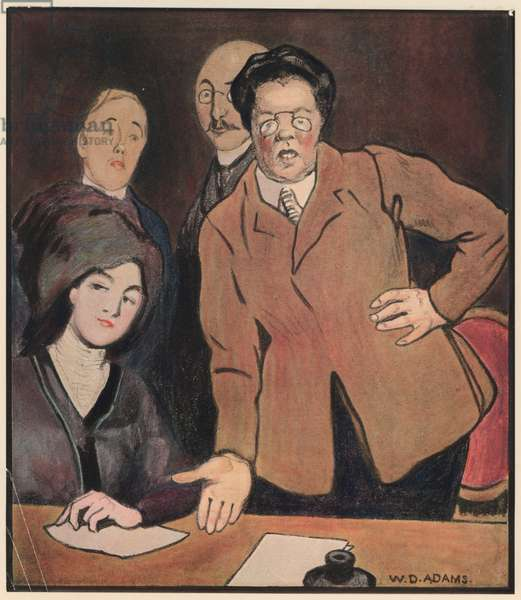 "Suffragettes, ""Votes for Women"" (colour litho)"