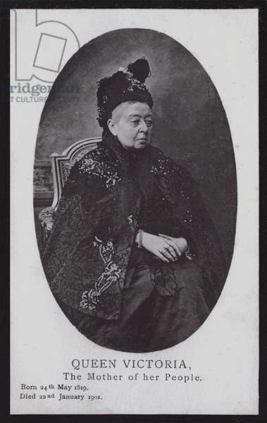 Queen Victoria, the Mother of her People (b/w photo)