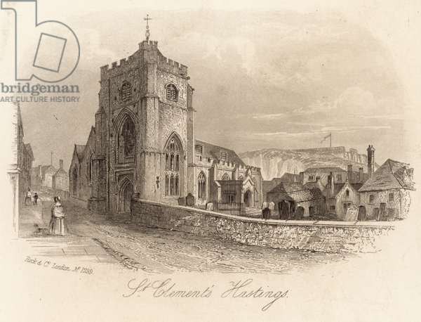St Clement's in Hastings (engraving)