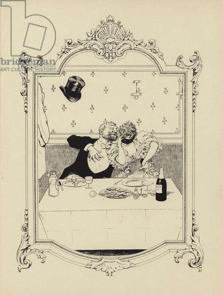 Cartoon from Memoires d'une Glace (engraving)