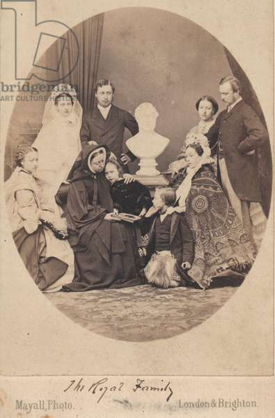 Queen Victoria and Prince Albert (b/w photo)