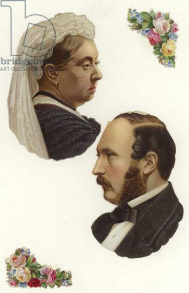 Queen Victoria and Prince Albert (chromolitho)