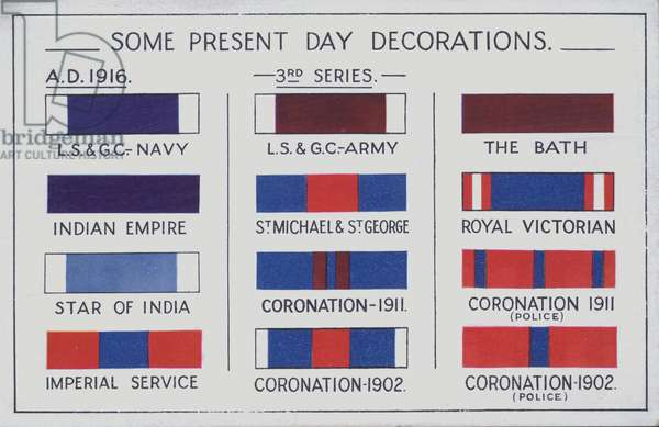British decorations,1916 (colour litho)