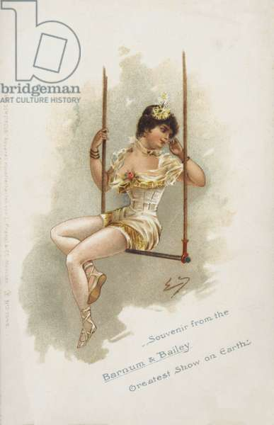 Woman trapeze artist of Barnum and Bailey's Circus (chromolitho)