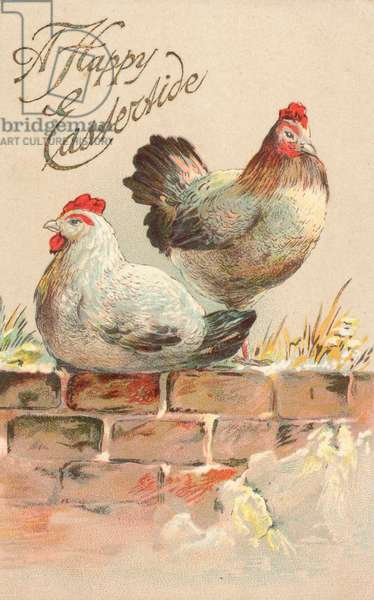 British Easter card (colour litho)