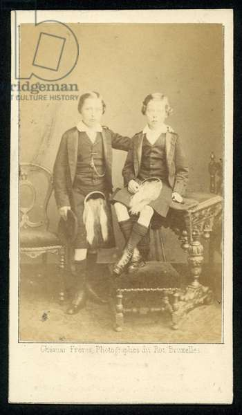 Prince Arthur and Prince Leopold (b/w photo)