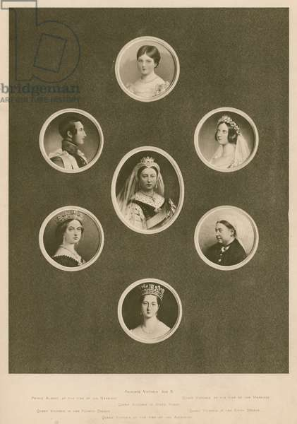Portraits of Queen Victoria at various times in her life, and of Albert, Prince Consort (photogravure)