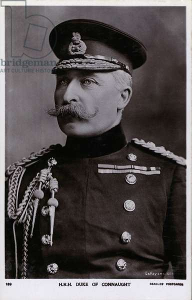 Prince Arthur, Duke of Connaught, third son of Queen Victoria and Prince Albert (b/w photo)