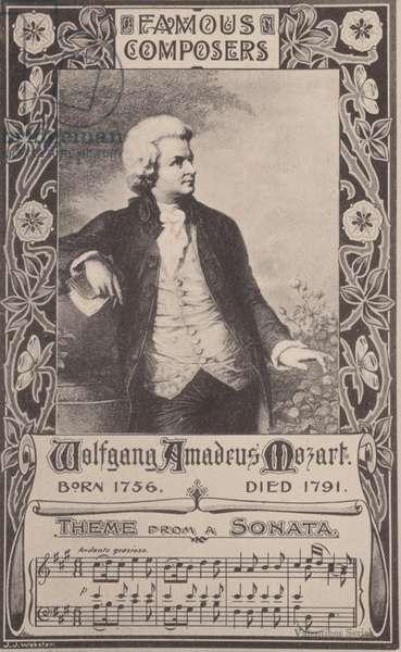 Wolfgang Amadeus Mozart, Austrian composer (litho)