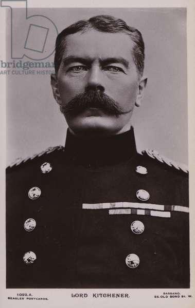 Field Marshal Lord Kitchener, British soldier (b/w photo)