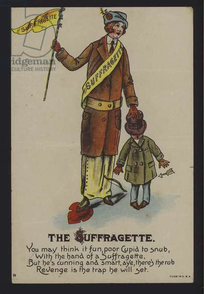 The Suffragette (colour litho)