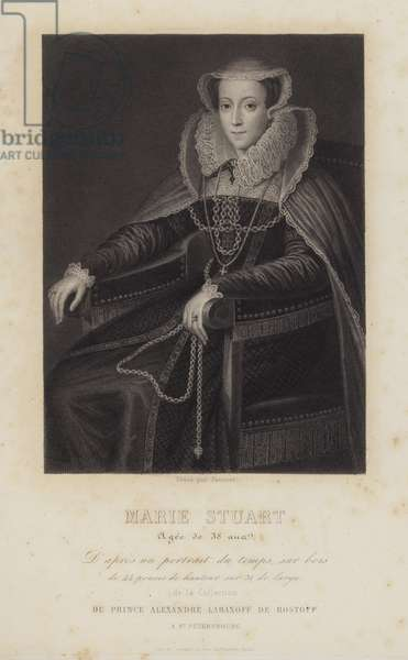 Mary Stuart, Queen of Scots, aged 38 (engraving)