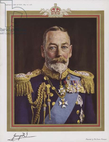 King George V, 1935 (colour litho)