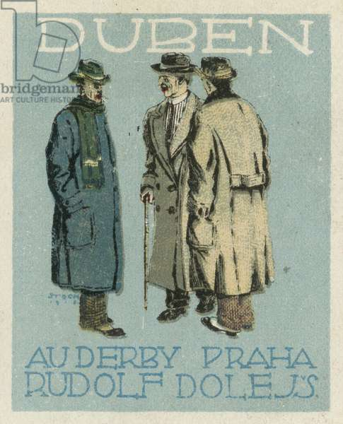 April. Au Derby Rudolf Dole fashions, Prague (colour litho)
