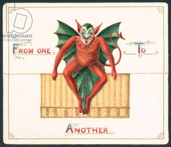 Red Devil, Christmas Card (chromolitho)