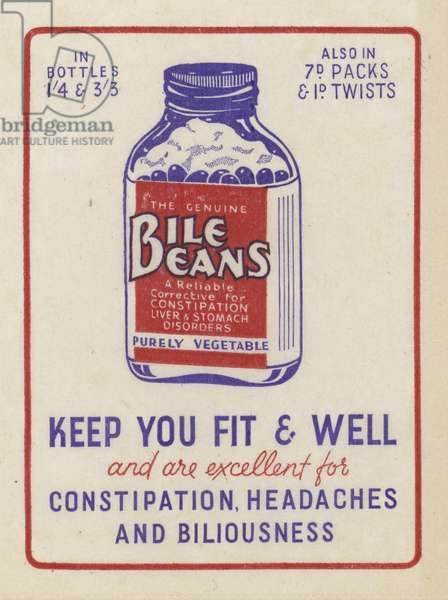 Advertisement for Bile Beans (colour litho)