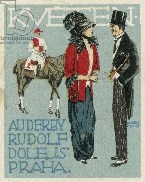 May. Au Derby Rudolf Dole fashions, Prague (colour litho)