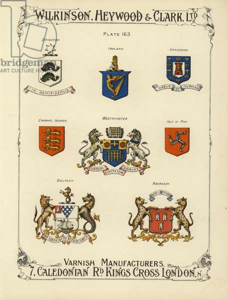 British coats of arms (chromolitho)