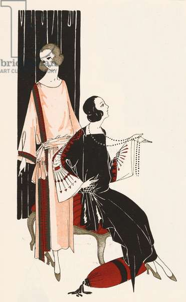 Fashion of the 1920s by the designer Premet (colour litho)